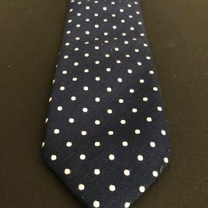 Jack Satori Accessories - Jack Satori Blue and White Polka Dot Tie